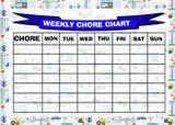 Weekly Chore Rota Task Reward Chart Diggers Construction