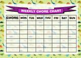 Weekly Chore Rota Task Reward Chart Dinosaurs