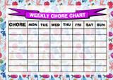 Weekly Chore Rota Task Reward Chart Fish