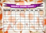 Weekly Chore Rota Task Reward Chart Fried Egg Sweets