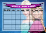 Weekly Chore Rota Task Reward Chart Frozen Elsa And Anna