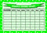 Weekly Chore Rota Task Reward Chart Green Stars