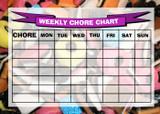 Weekly Chore Rota Task Reward Chart Liquorice Allsorts