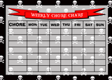 Weekly Chore Rota Task Reward Chart Pirate