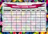 Weekly Chore Rota Task Reward Chart Pretty Butterfly