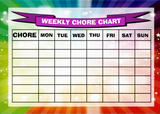 Weekly Chore Rota Task Reward Chart Rainbow Stars