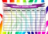 Weekly Chore Rota Task Reward Chart Rainbow Zebra