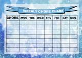 Weekly Chore Rota Task Reward Chart Stars Blue