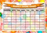 Weekly Chore Rota Task Reward Chart Sweets Lolly