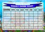 Weekly Chore Rota Task Reward Chart Underwater Sharks