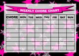 Weekly Chore Rota Task Reward Chart Zebra Stars