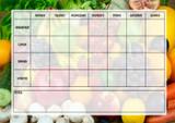 Fruit And Veg Weekly Menu Meal Planner