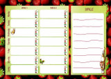 Strawberry Two Week Meal Planner Chart