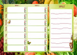 Two Week Meal Planner Chart  Vegetables