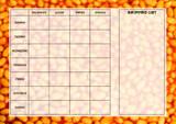 Weekly Meal Menu Diet Planner Chart Beans