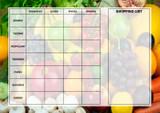 Weekly Meal Menu Diet Planner Chart Fruit And Veg