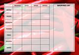 Weekly Meal Menu Diet Planner Chart Peppers