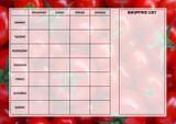 Weekly Meal Menu Diet Planner Chart Tomatoes