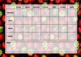Weekly Meal Planner Chart Strawberry