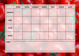 Weekly Meal Planner Chart Tomatoes