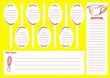 Yellow Weekly Meal Diet Menu Planner