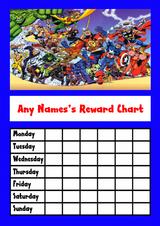 Avengers Star Sticker Reward Chart