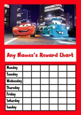 Cars Star Sticker Reward Chart