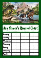 Dinosaurs Star Sticker Reward Chart