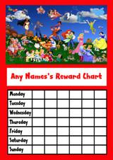 Disney Characters Star Sticker Reward Chart