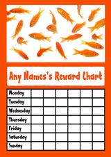 Gold Fish Star Sticker Reward Chart