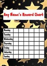 Gold Star Sticker Reward Chart