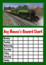 Green Train Star Sticker Reward Chart