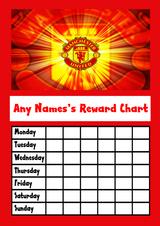 Man United Star Sticker Reward Chart