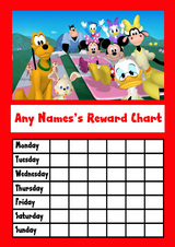 Mickey Mouse Clubhouse Star Sticker Reward Chart