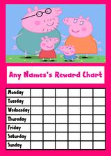 Peppa Pig Pink Star Sticker Reward Chart