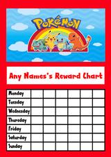 Pokemon Star Sticker Reward Chart