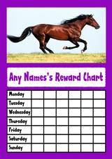 Purple Horse Star Sticker Reward Chart
