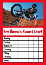 Red BMX  Star Sticker Reward Chart
