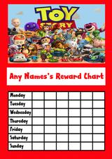 Red Toy Story Star Sticker Reward Chart