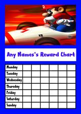 Super Mario Star Sticker Reward Chart