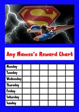 Superman Star Sticker Reward Chart