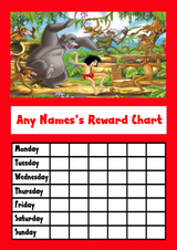 The Jungle Book Star Sticker Reward Chart
