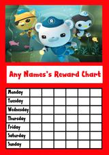 The Octonauts Star Sticker Reward Chart