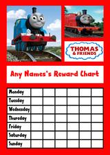 Thomas The Tank Star Sticker Reward Chart