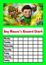 Tree Fu Tom Star Sticker Reward Chart