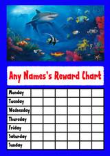 Underwater Shark Star Sticker Reward Chart