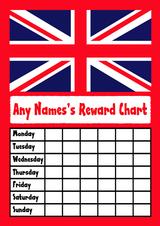 Union Jack Star Sticker Reward Chart