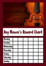 Violin Star Sticker Reward Chart