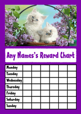 White Kittens Star Sticker Reward Chart