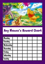 Winnie The Pooh Star Sticker Reward Chart